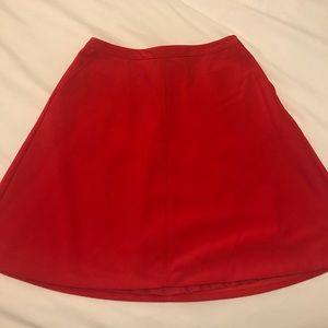 LOFT Red Skirt- never worn